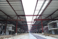 Red Paint Metal Garage Buildings For Cargo Storage & Logistic Transportaiton