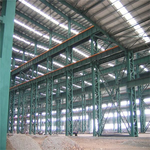 Customize H Section Garage Steel Frame With Colored Steel Sheets Anti - Shock